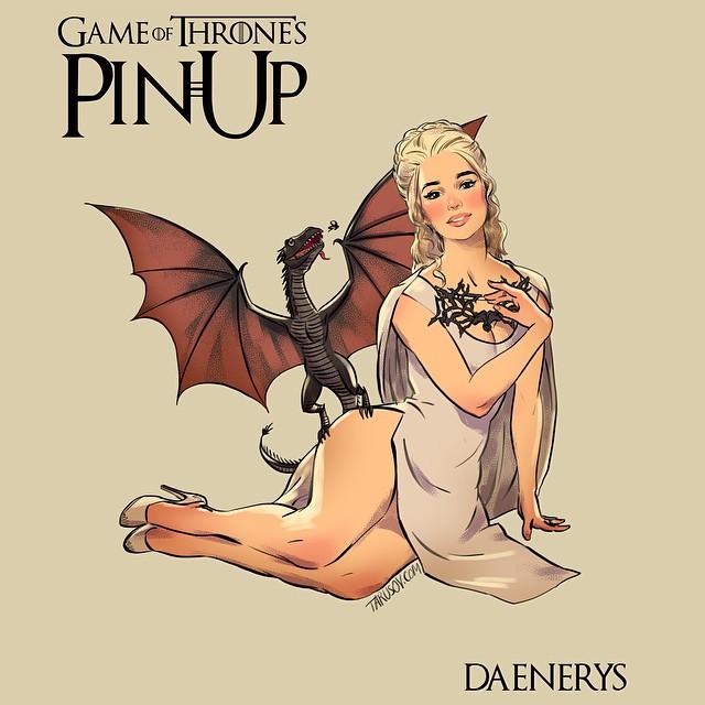 Дэйнерис из Игры престолов в пин-ап